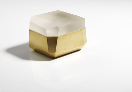 Andrea Walsh - Large Faceted Box with 22ct Burnished Gold